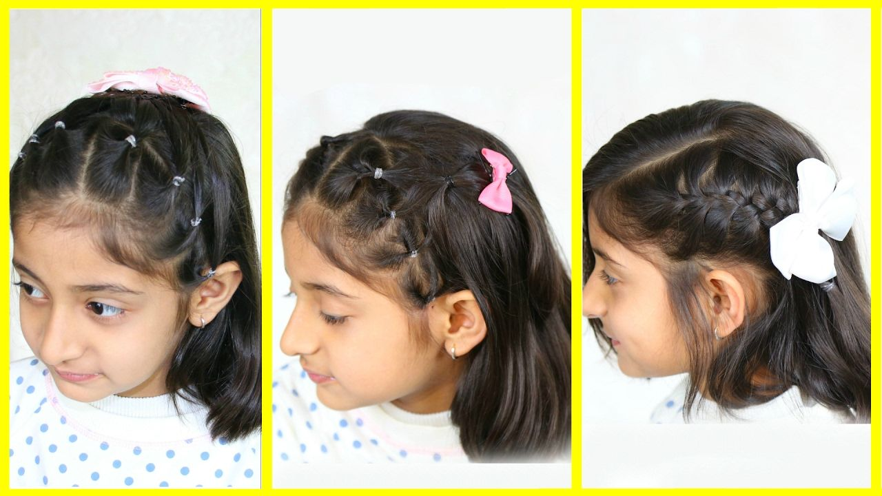 Hairstyles For Medium Hair Interesting 3 Simple & Cute Hairstyles For Medium Hair  Mymissanand  Videos