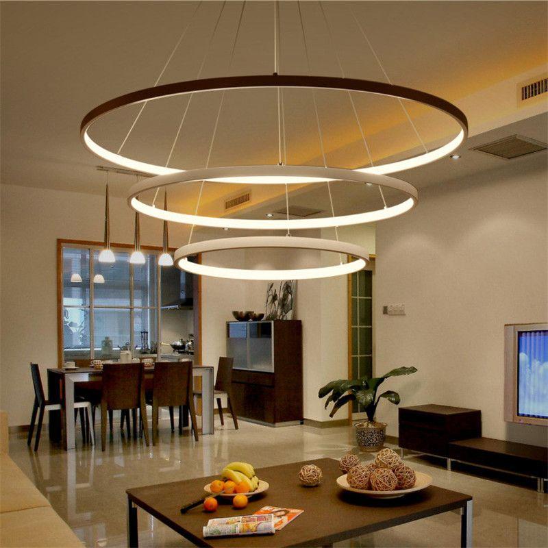 New Modern pendant lights for living room dining room 4/3/2/1 Circle