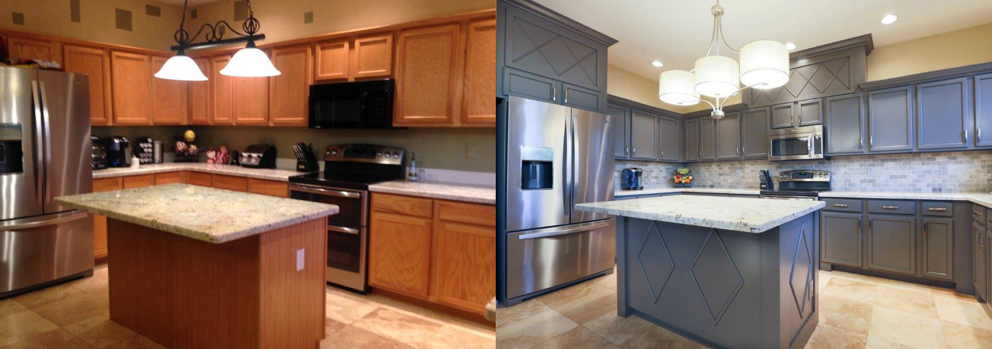Cabinet Refinishing Before & After