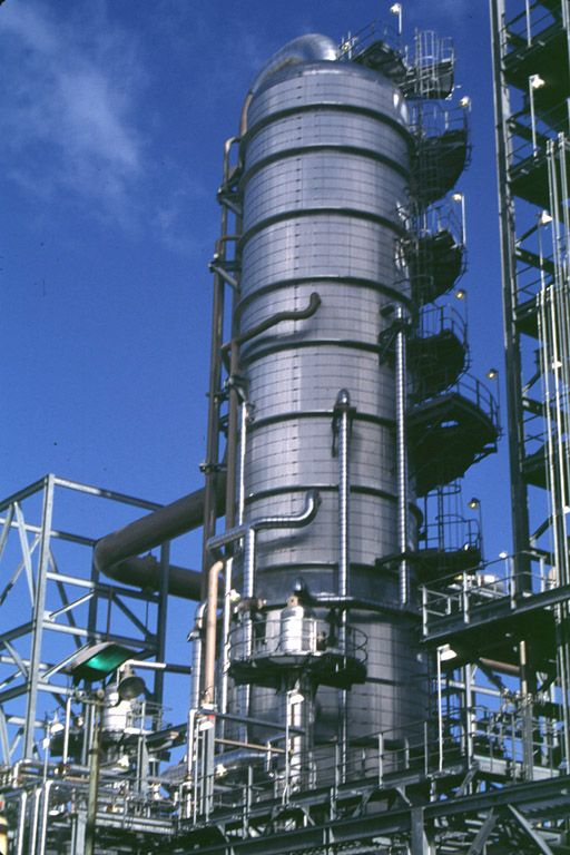Richmond Refinery, Fluid Catalytic Cracking Distillation Column. | Chemical  engineering, Chemical suppliers, Distillation