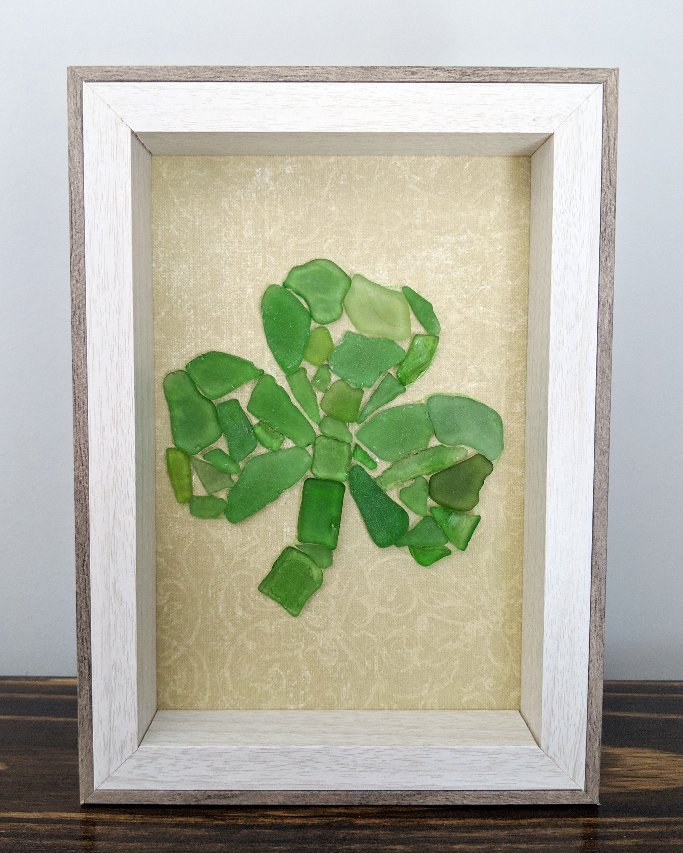 Beautiful Light Wood Etched Picture Frame SHAMROCKS 8 X 10