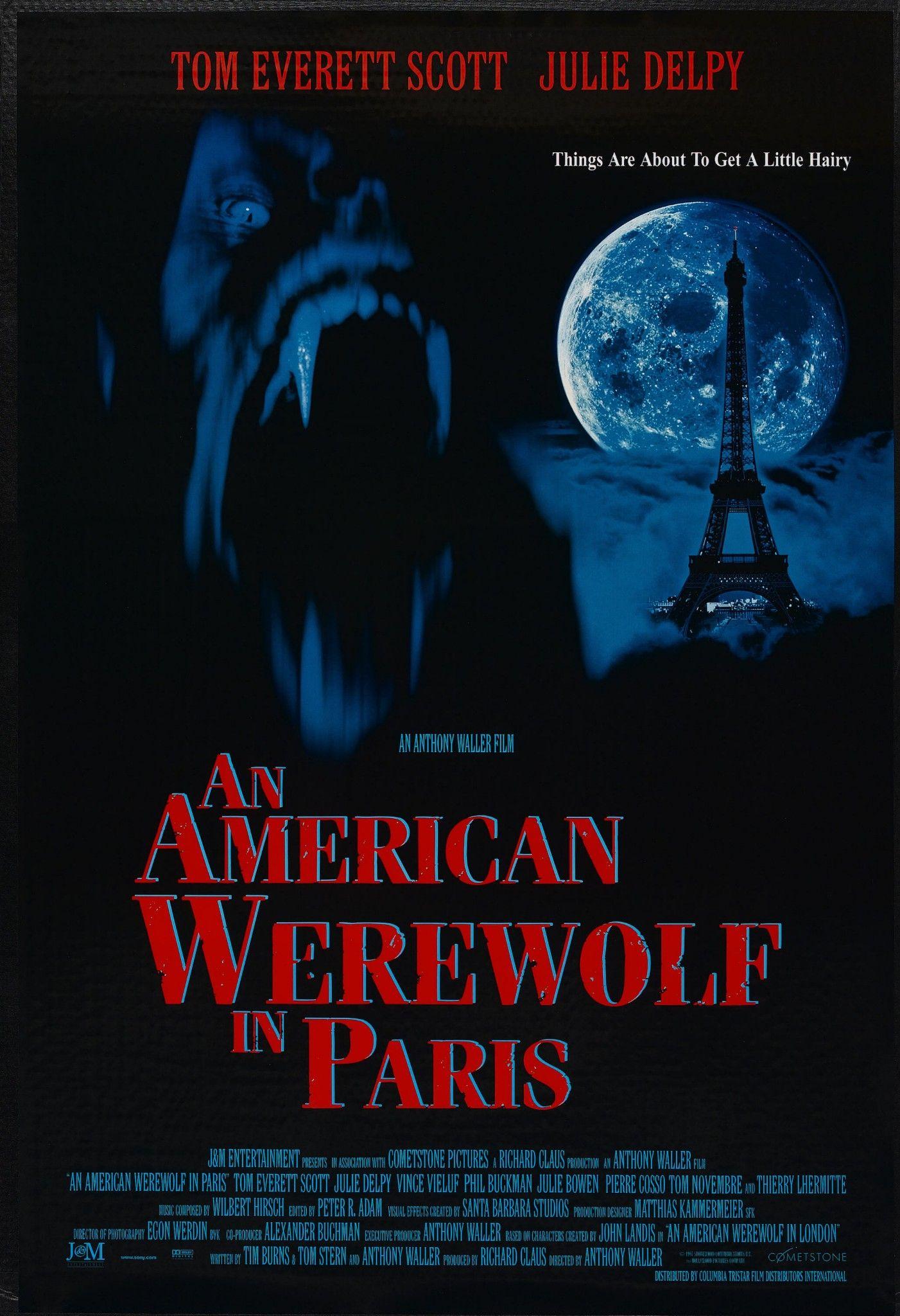AN AMERICAN WEREWOLF IN PARIS (1997) | Paris poster, Werewolf ...