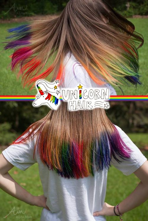 DIY Unicorn Hair Tutorial By Mir Kamin Brenda Ponnay For Alphamom