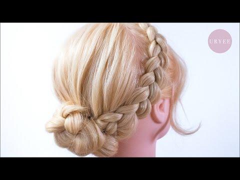簡単 可愛い 編み込みカチューシャ アップヘア Youtube アップ