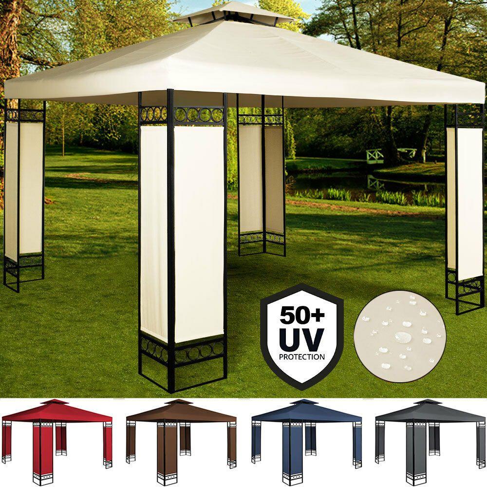 3x3 Gazebo Marquee Party Wedding Tent Garden Lorca Reception Patio Canopy Awning In 2020 Gazebo Patio Canopy Wedding Tent