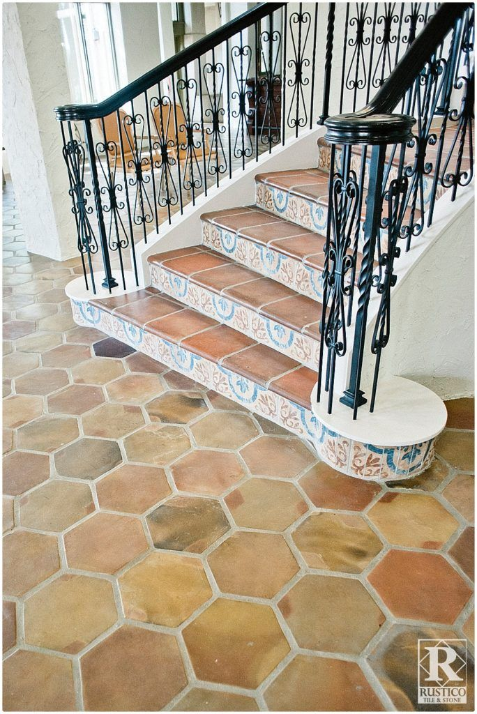 Pin by rustico tile and stone on mexican tile mexican for Spanish style floor tiles