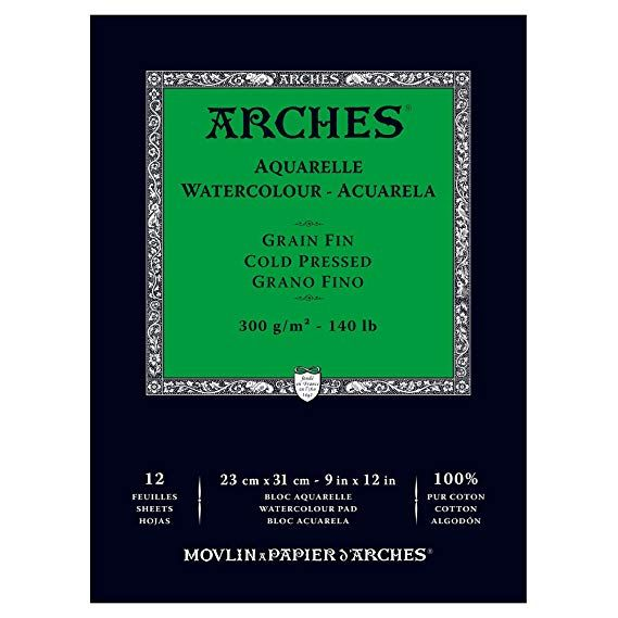 Amazon 18 68 Or 1 57 Per Sheet Arches Watercolor Paper Pad 140