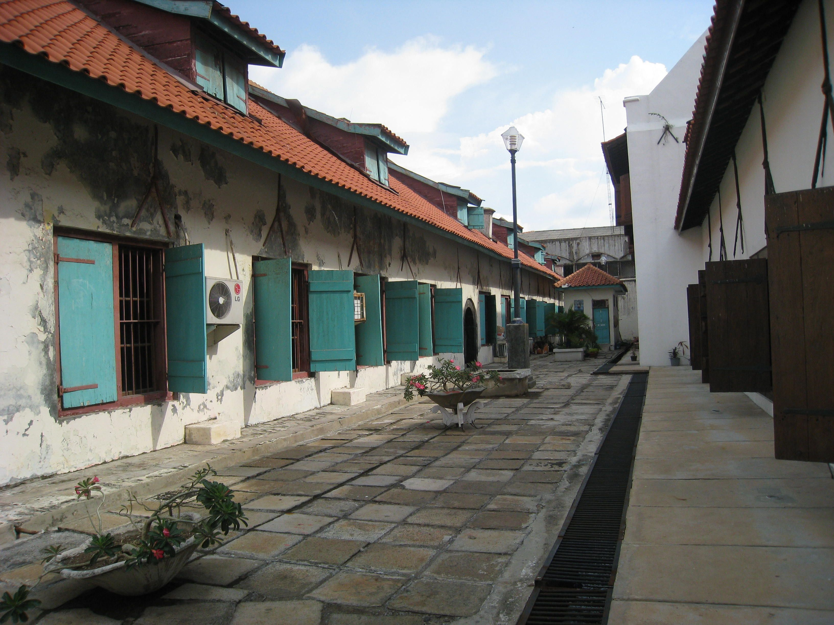 Dutch colonial architecture dating to the 17thcentury in
