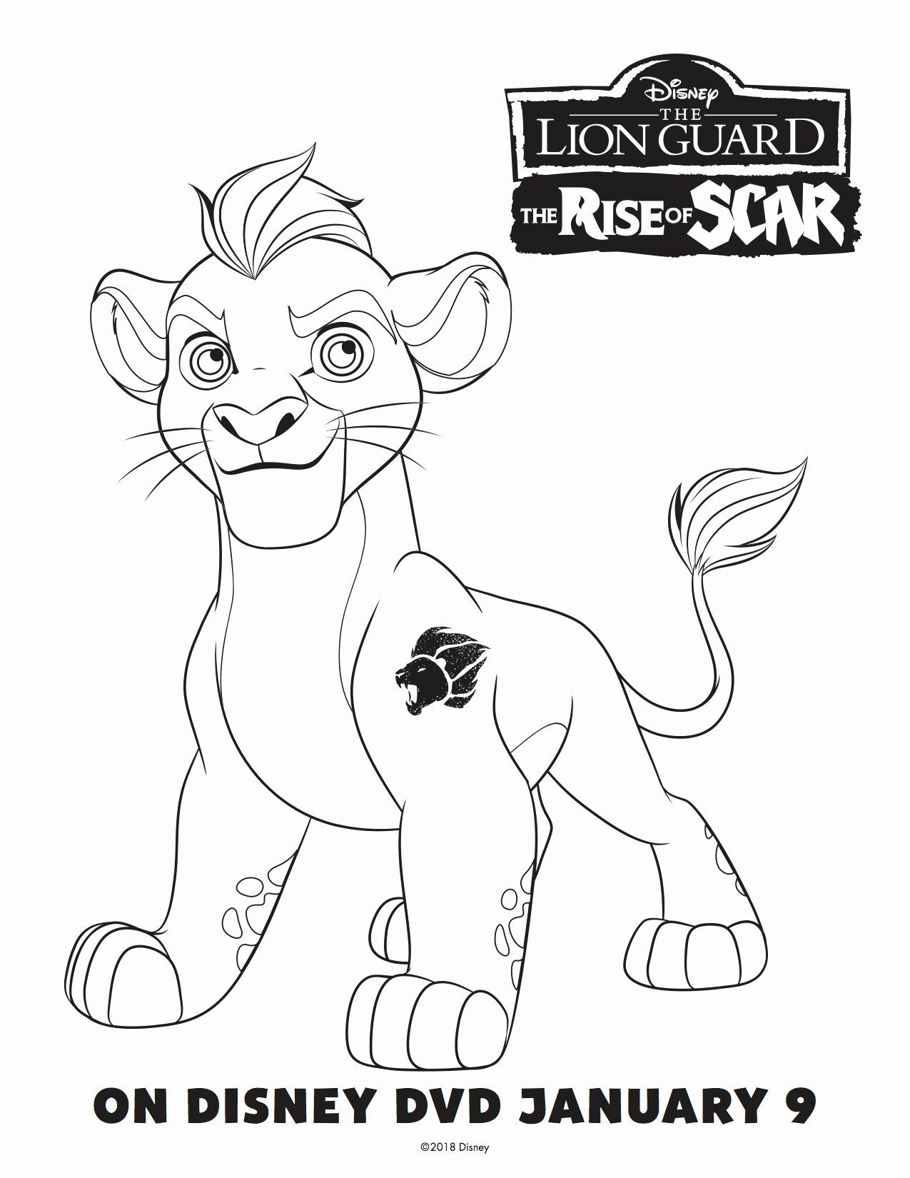 Lion Guard Coloring Book Elegant The Lion Guard The Rise Scar Free Printables Thank You Honey Lion Coloring Pages Coloring Books Free Disney Coloring Pages