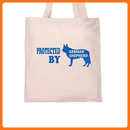 PROTECTED BY GERMAN SHEPHERD Dog DogsTote Bag Shoulder