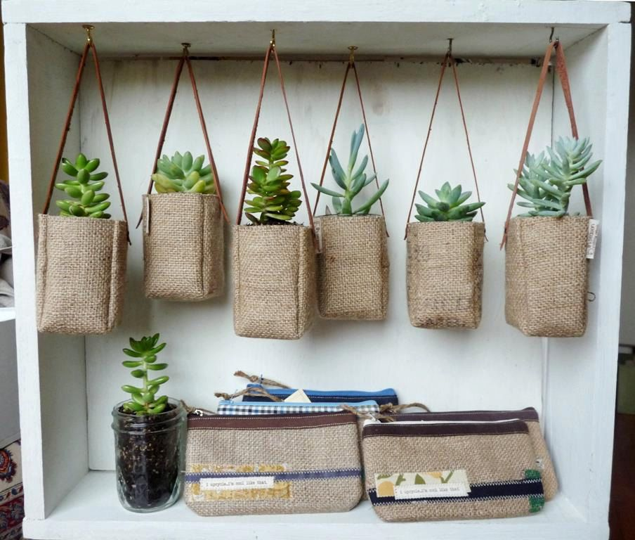 Upcycled GrEEN AbBY plant baskets WITHOUT leather strap