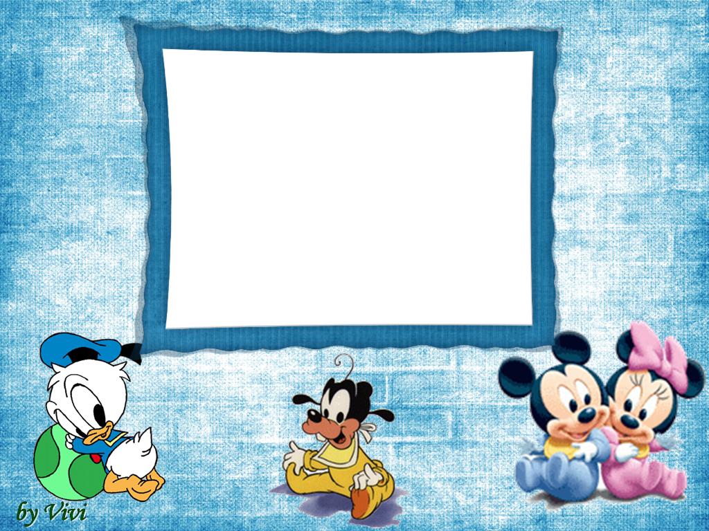 Invitaciones o Marcos para Fotos de los Bebés Disney para Imprimir ...