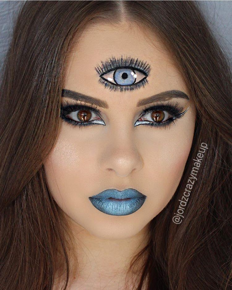 Third Eye Psychic Makeup Look