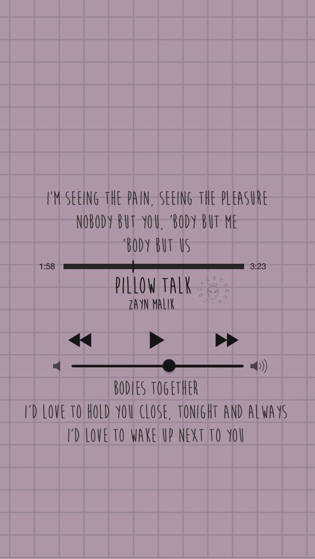 pillowtalk lyrics zayn malik lyrics
