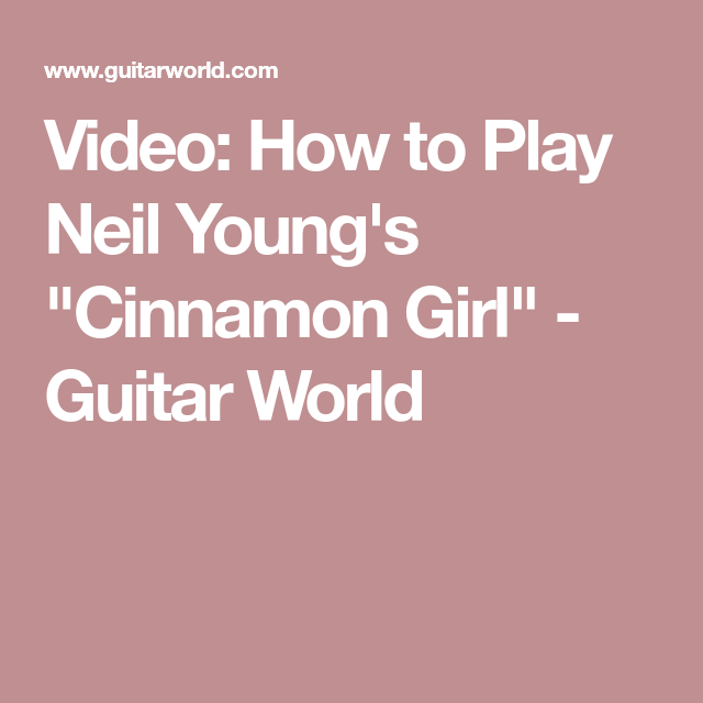 Video: How to Play Neil Young's