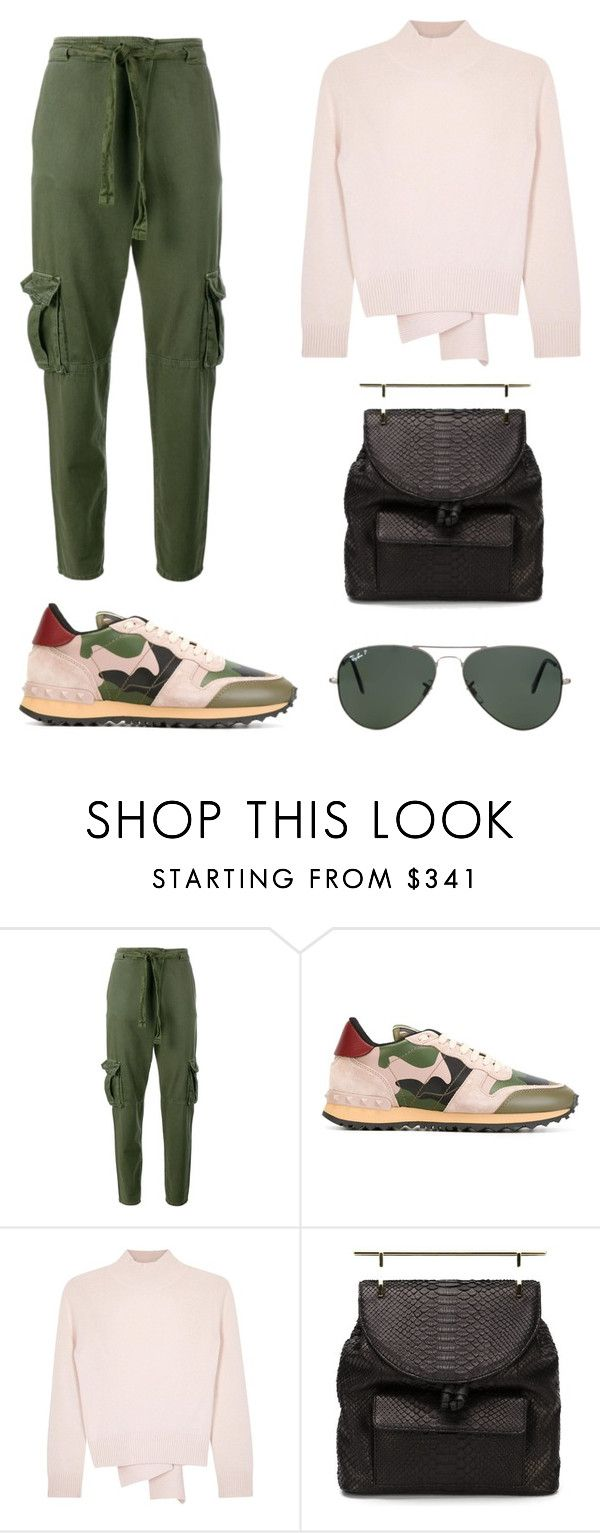 """Senza titolo #69"" by isa-panda on Polyvore featuring moda, Current/Elliott, Valentino, Alexander McQueen, M2Malletier e Ray-Ban"