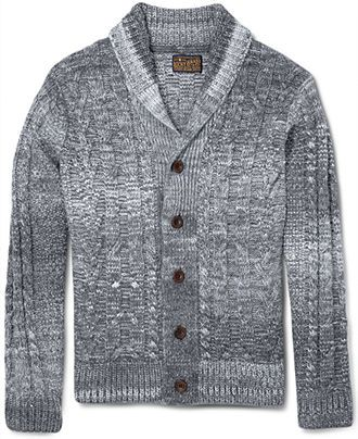 ddff94c8ea Lucky Brand Jeans Sweater, Cable Shawl Cardigan - Mens Sweaters - Macy's