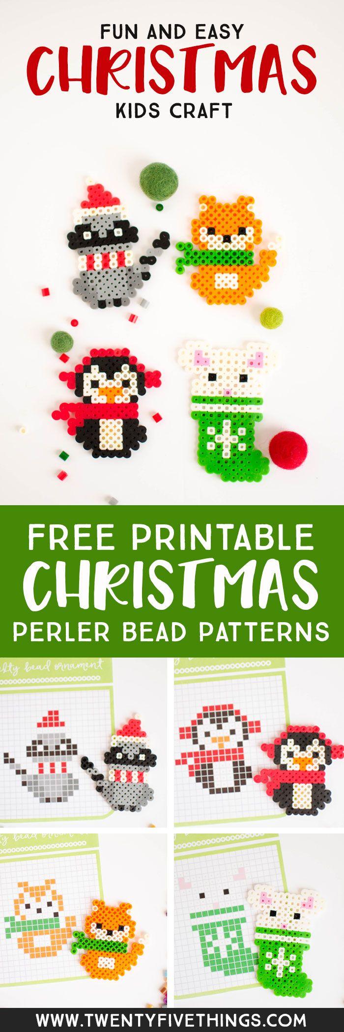 Christmas Perler Bead Patterns - Fun Loving Families