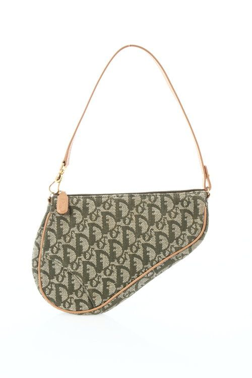Dior Green Monogram Mini Saddle Bag  - $162