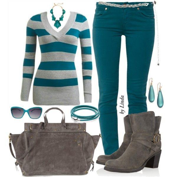#turquoisestripedsweater