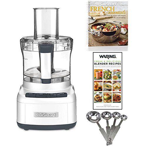 Cuisinart Elemental 8 Cup Food Processor White 2 Cookbooks And Measuring Spoon Set Food Processor Recipes Cuisinart Blender Recipes