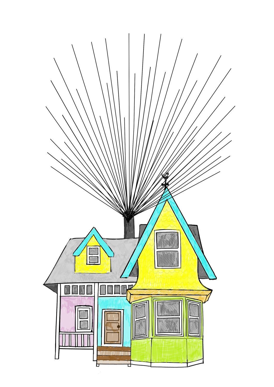 up u0026 39  house inspired fingerprint alternative guest book kit