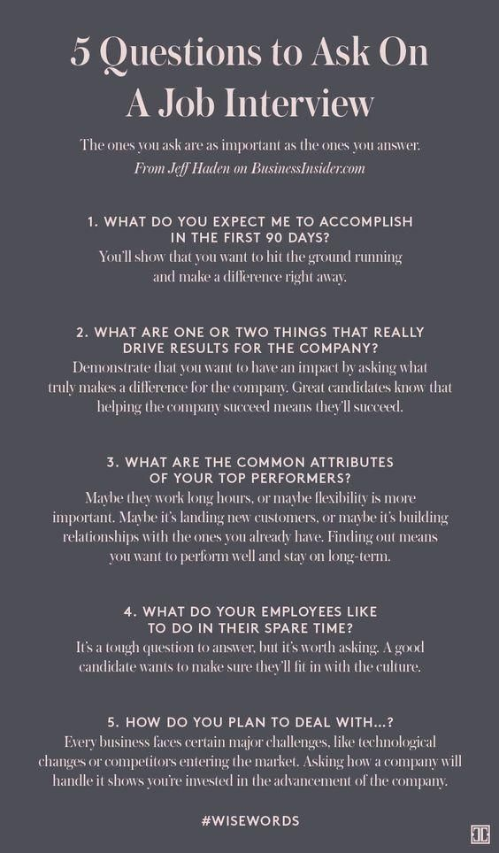 cool linkedin - picture postjpg Any  Everything Pinterest - questions to ask at job interview