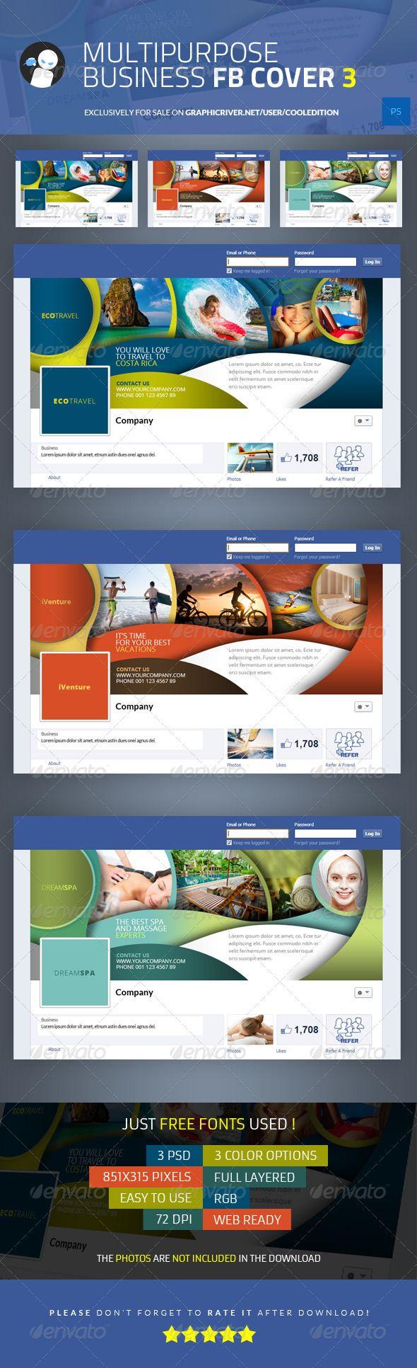 Multipurpose Business Facebook Cover 3 - $2