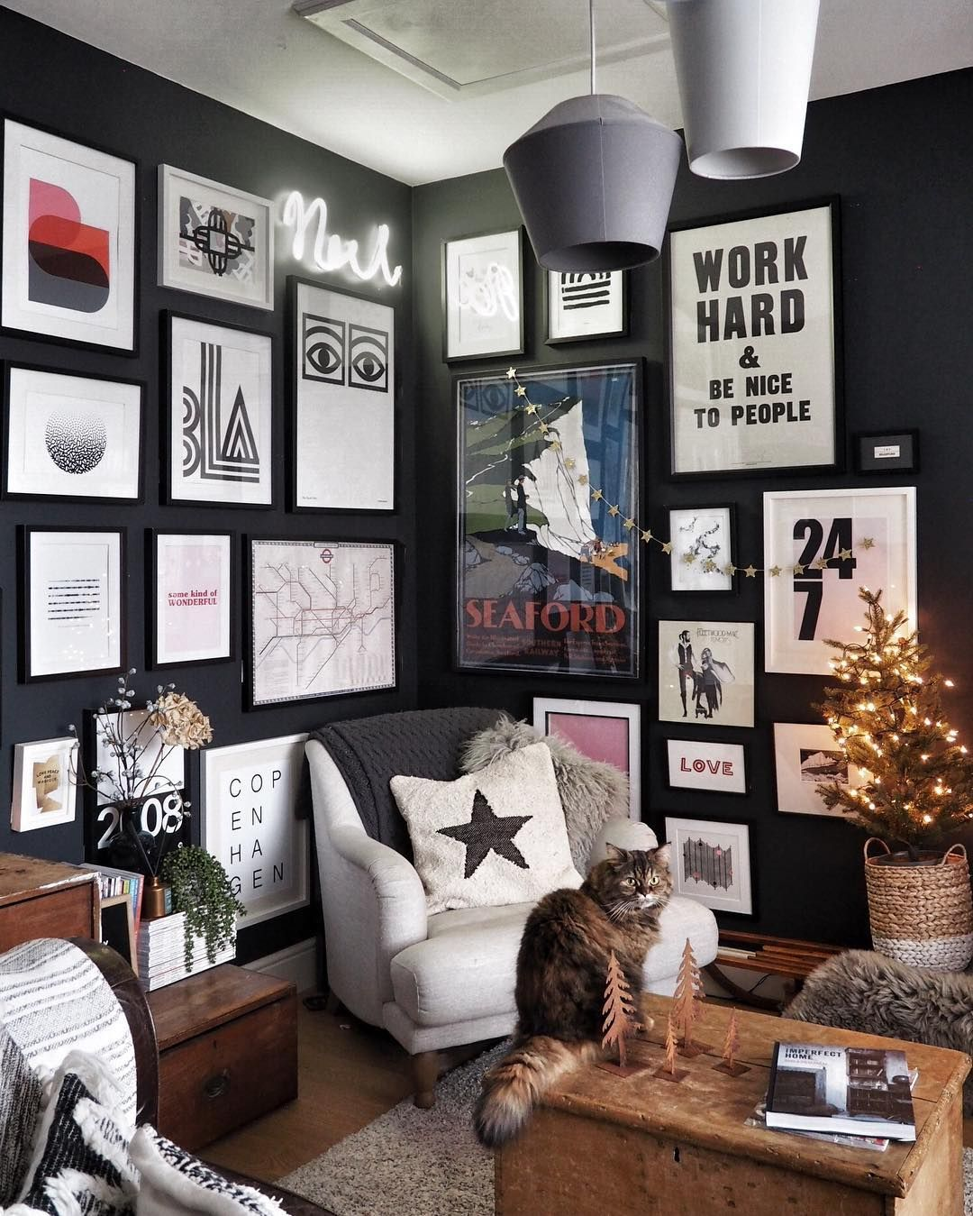 Colorful Wall Art In Dark Wall Is Eye Cacher Home Decor Inspire