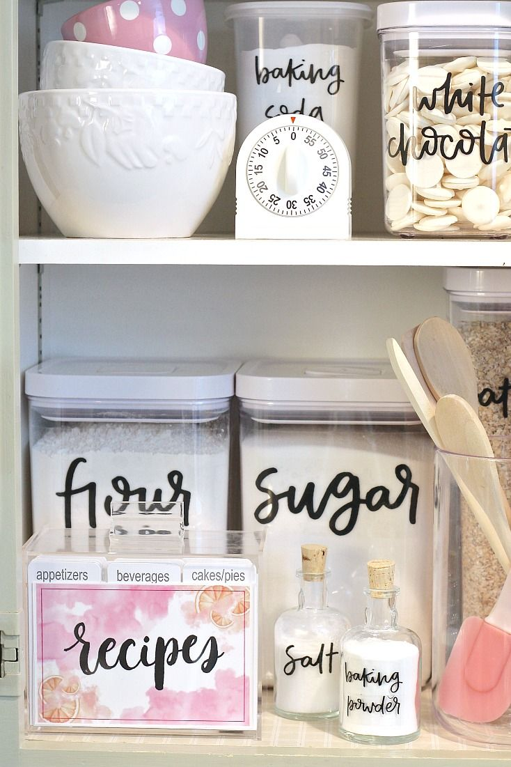 Free printable pantry labels hand lettered kitchen pinterest