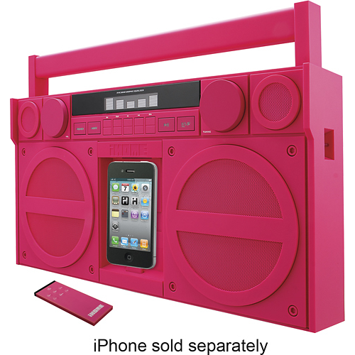 Listen to your favorite tunes with this iHome iP4 boombox