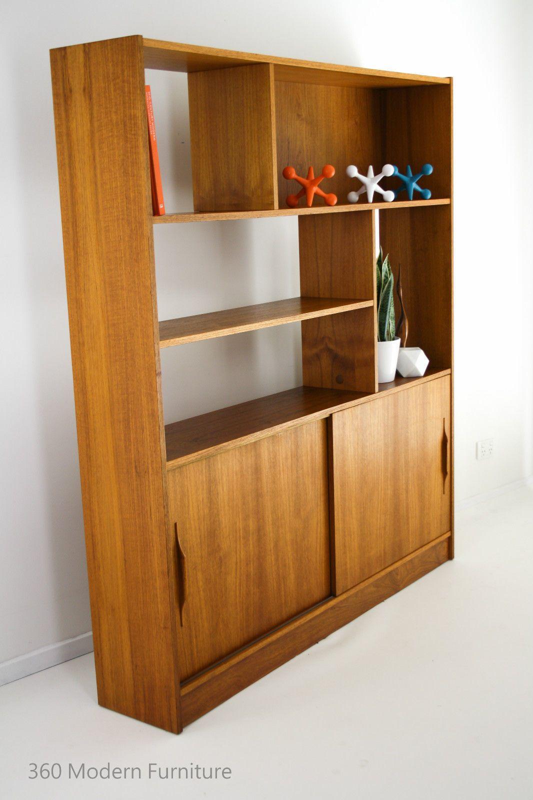 Modern Furniture Wall Units mid century room divider wall unit bookcase teak shelves retro