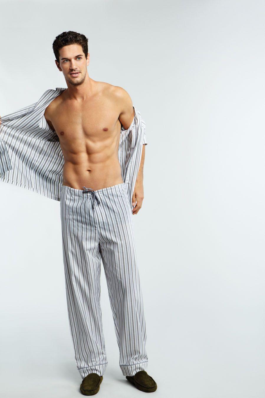 9146d76d0b Men s Classic PJs - Grey Double Stripe