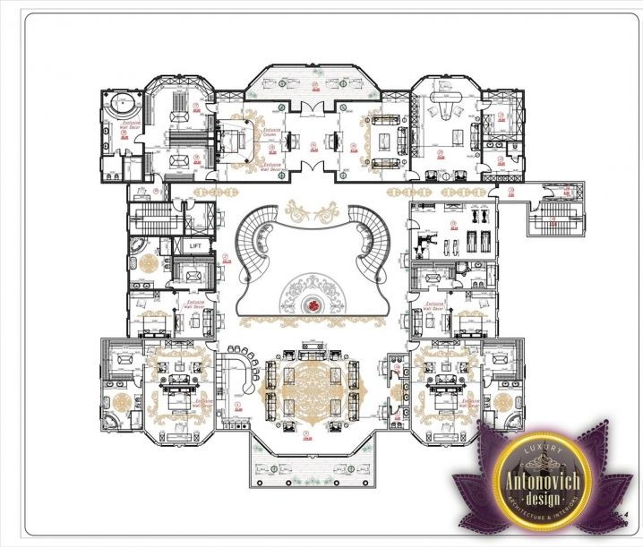 Luxury House Plan 3 By Antonovich Designs Luxury House Plans Luxury Floor Plans House Plans