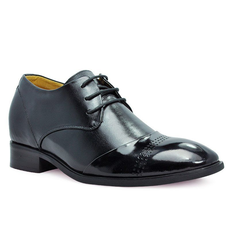 Find Black Fashion Dress Elevator Shoes For Men Height Increase Heighten With SKU From Topoutshoes Online Store