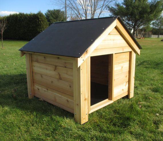 The Ultimate Cedar Dog House Free Shipping Us48 Large Dog
