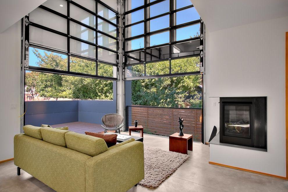 Glass Door Designs For Living Room Pleasing Unique Garage Doors Garage In Living Room Industrial With Cable Decorating Inspiration