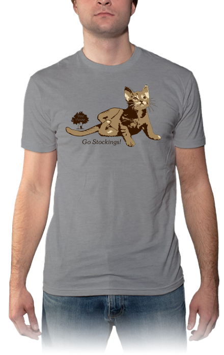 Support The Treehouse Humane Society Raise Money For Disabled Cats Like Stockings Www Threadmeup Com Gostockings Mens Tops Mens Tshirts Mens Graphic Tshirt