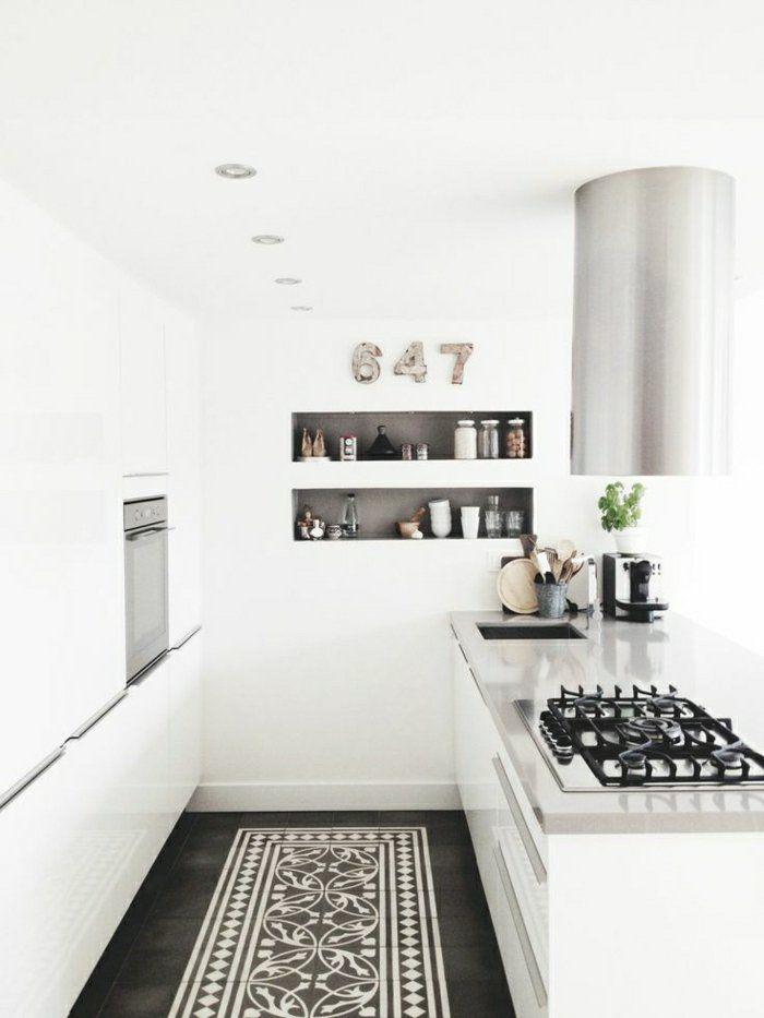 2-cuisine-blanche-laquéе-avec-meubles-conforama-pas-cher-comment - Conforama Meuble De Cuisine