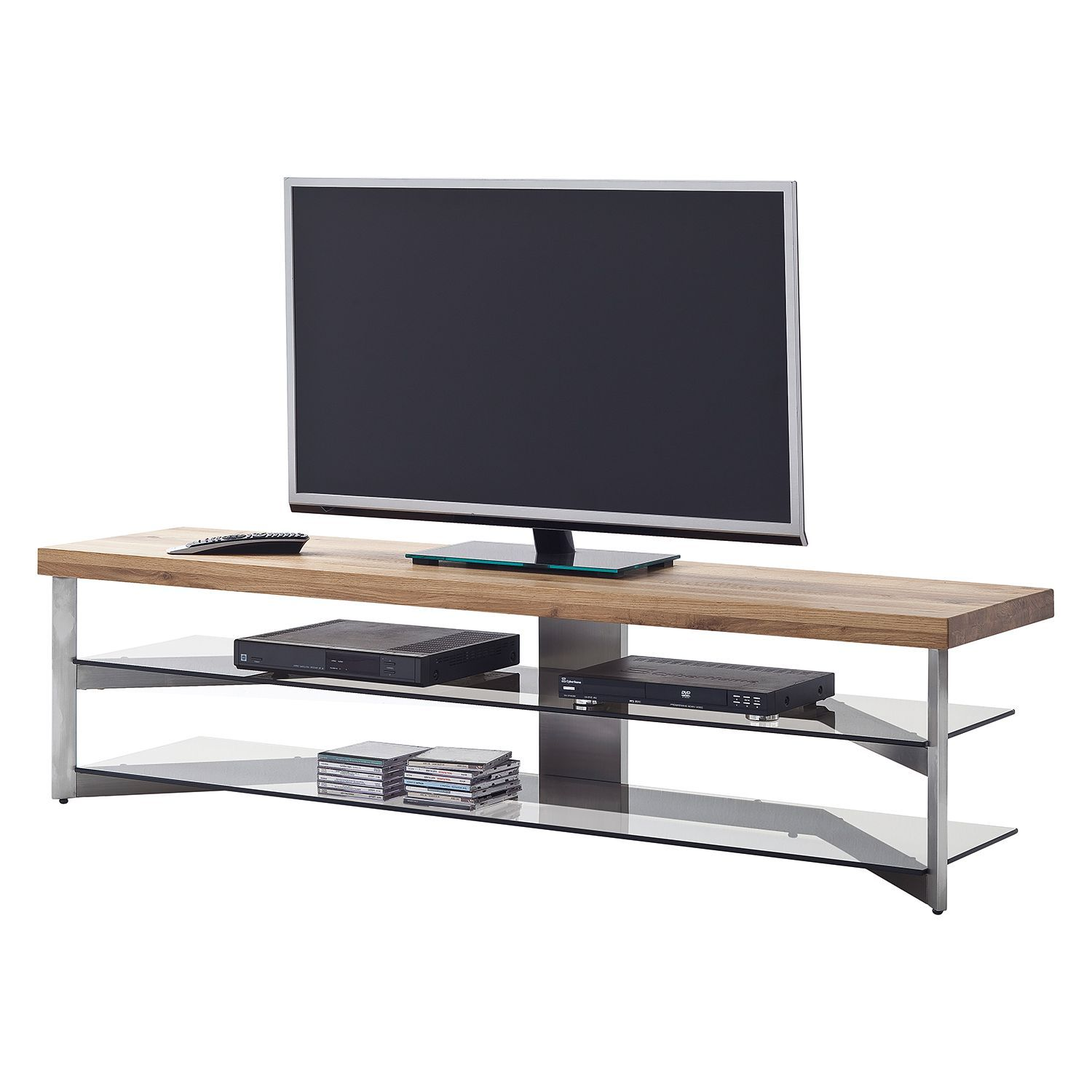 Tv Lowboard Baelo Eiche Massiv Metall Roomscape Jetzt  # Meuble Tv Gris Beton