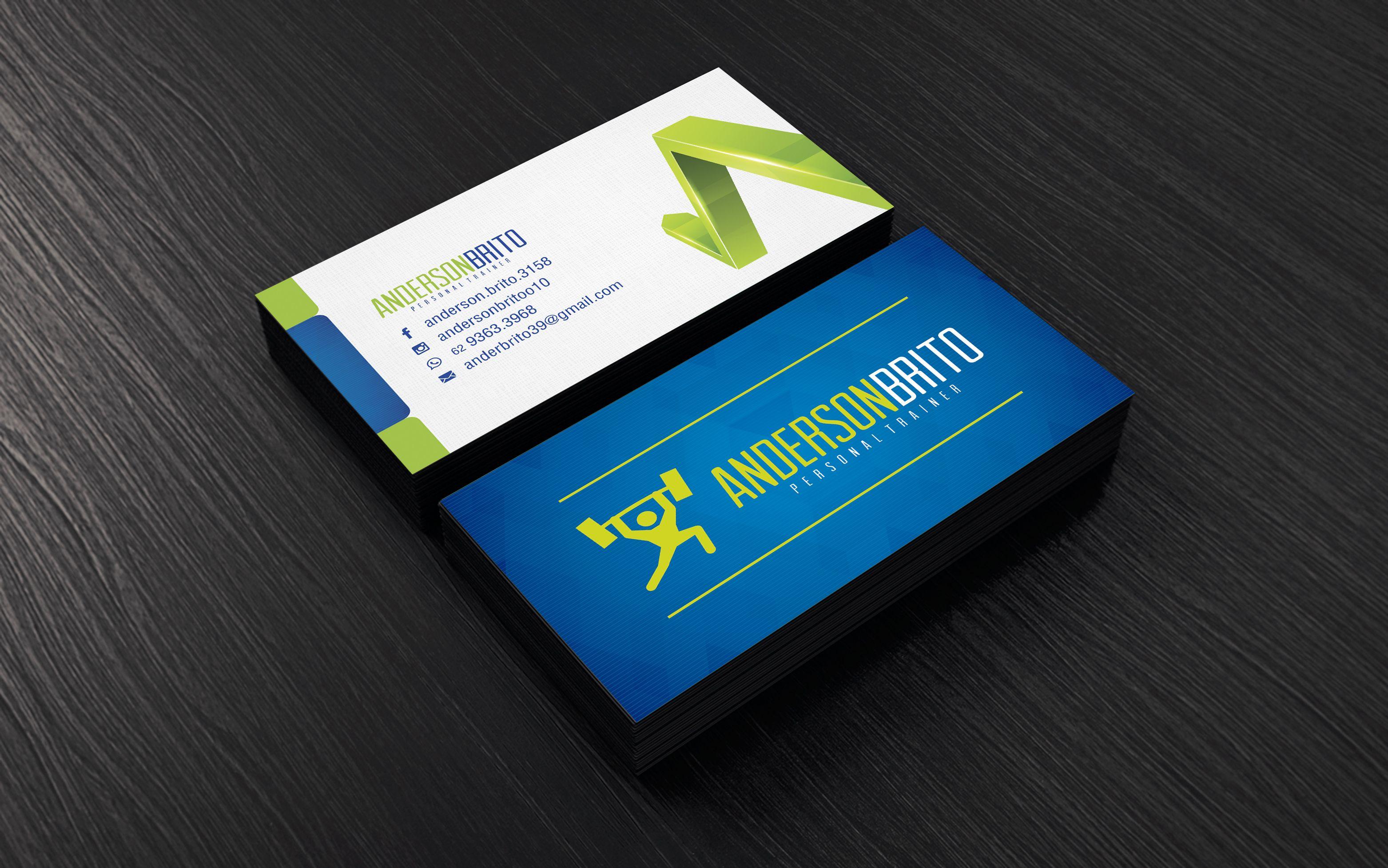 Cart£o de Visitas Personalizado Anderson Brito Personal Trainer