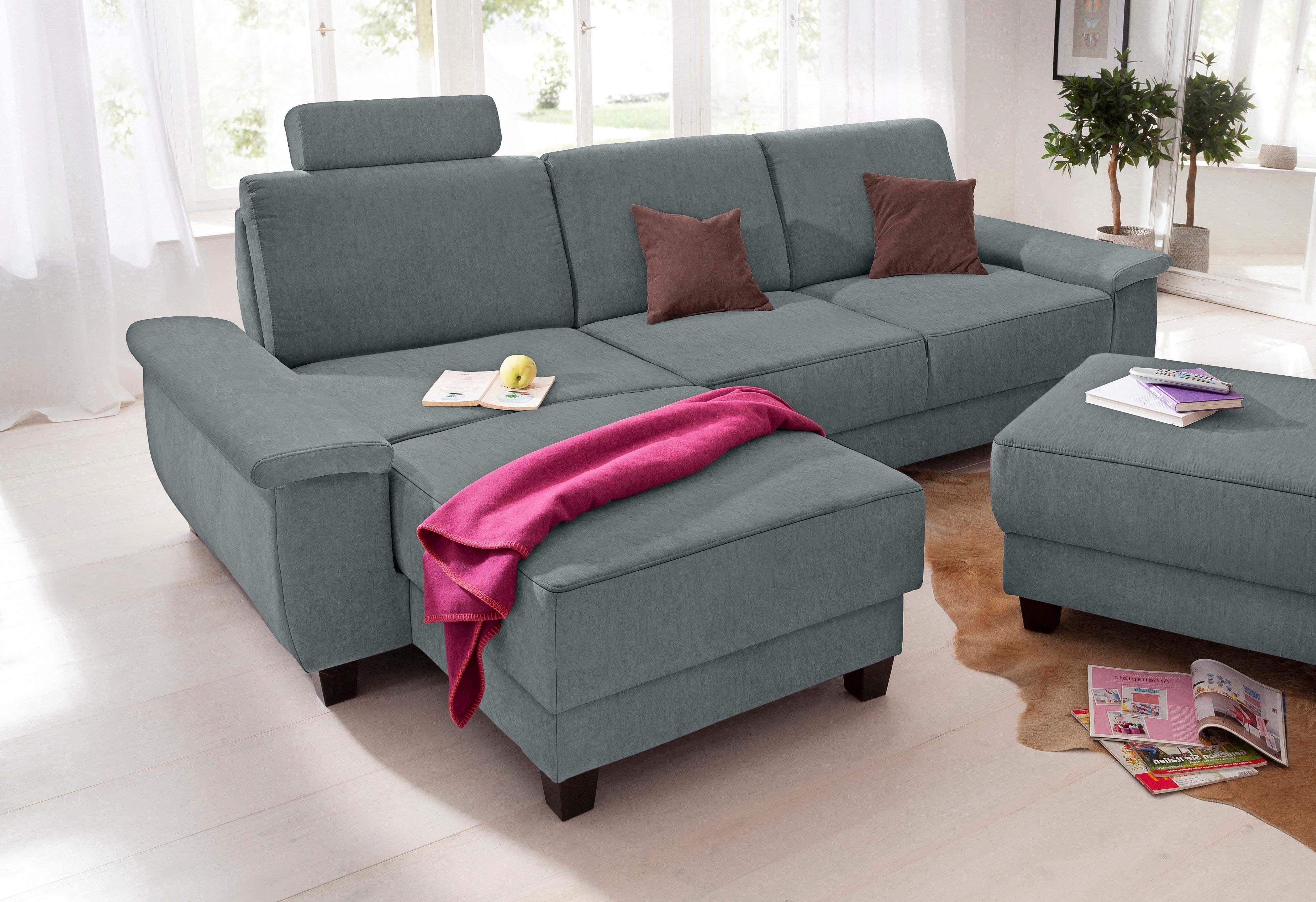 Entzückend Sofa Relaxfunktion Dekoration Von Home Affaire Ecksofa »mailandÂ« Grau, Mit Relaxfunktion,