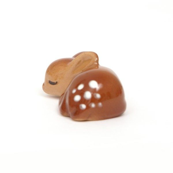 Small Ceramic Sleeping Deer...awwwww