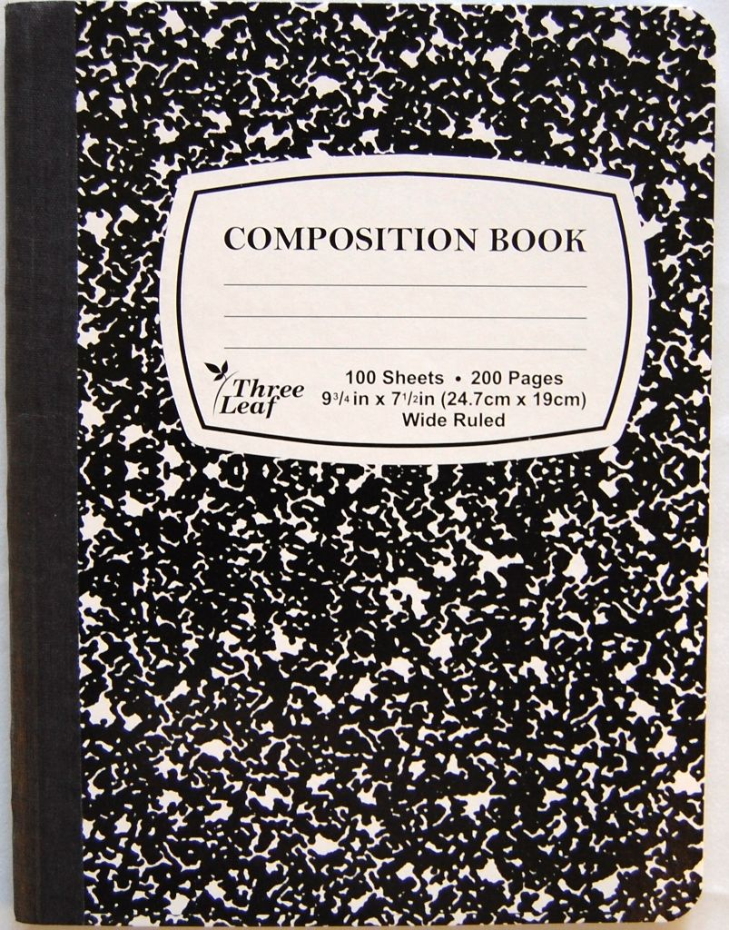 composition book black marble 9 3 4 x 7 1 2 wide ruled grade a