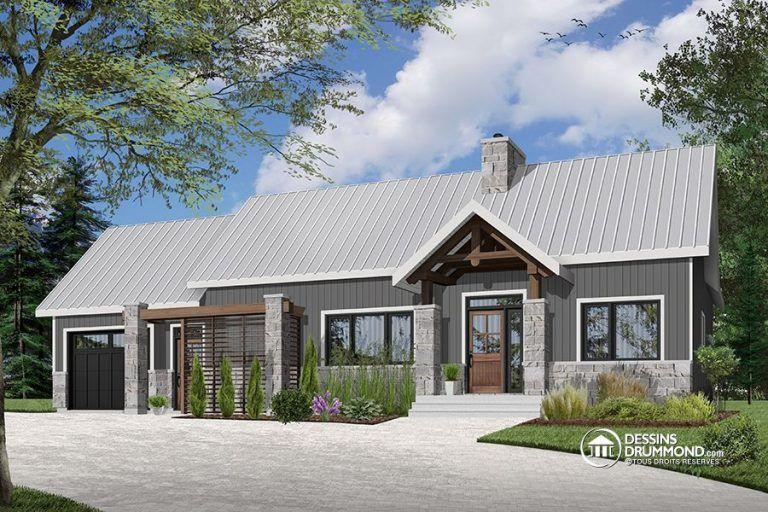 Plain-pied scandinave avec garage et terrasse abritée ...