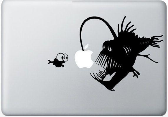 Seeteufel--Macbook Aufkleber Macbook Aufkleber Mac Vinyl Aufkleber für Apple Notebook Macbook Pro / Macbook Air / iPad auf Etsy, 5,79€