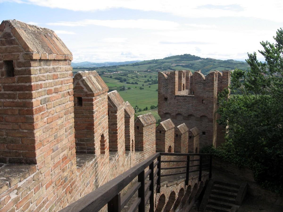 Gradara, Italy - Castle ramparts.