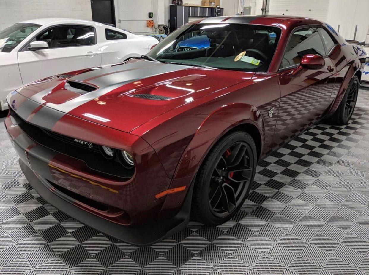 Dodge Challenger Srt Hellcat Widebody Painted In Octane Red W Black