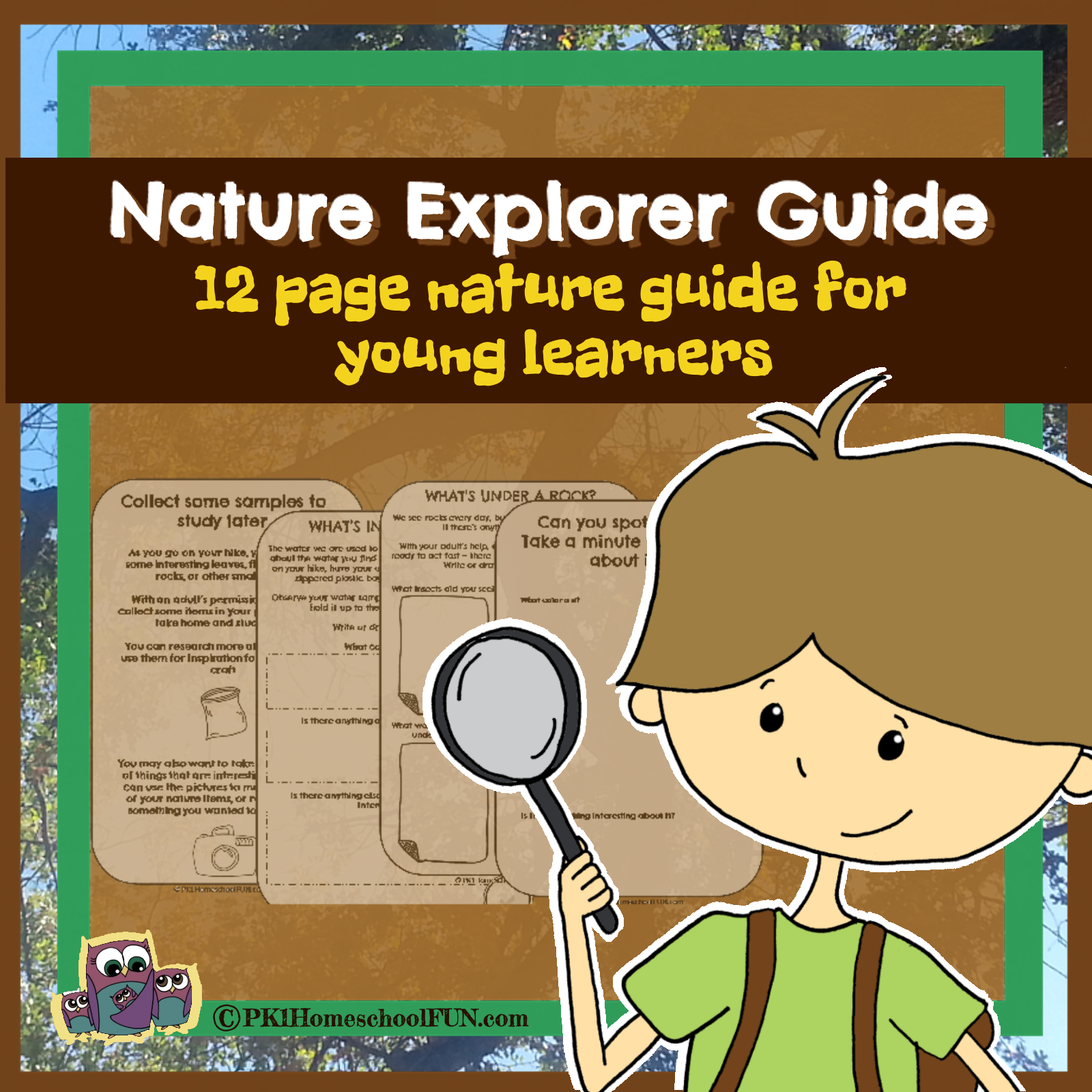 Free Nature Explorer Guide For Pk1 Kids