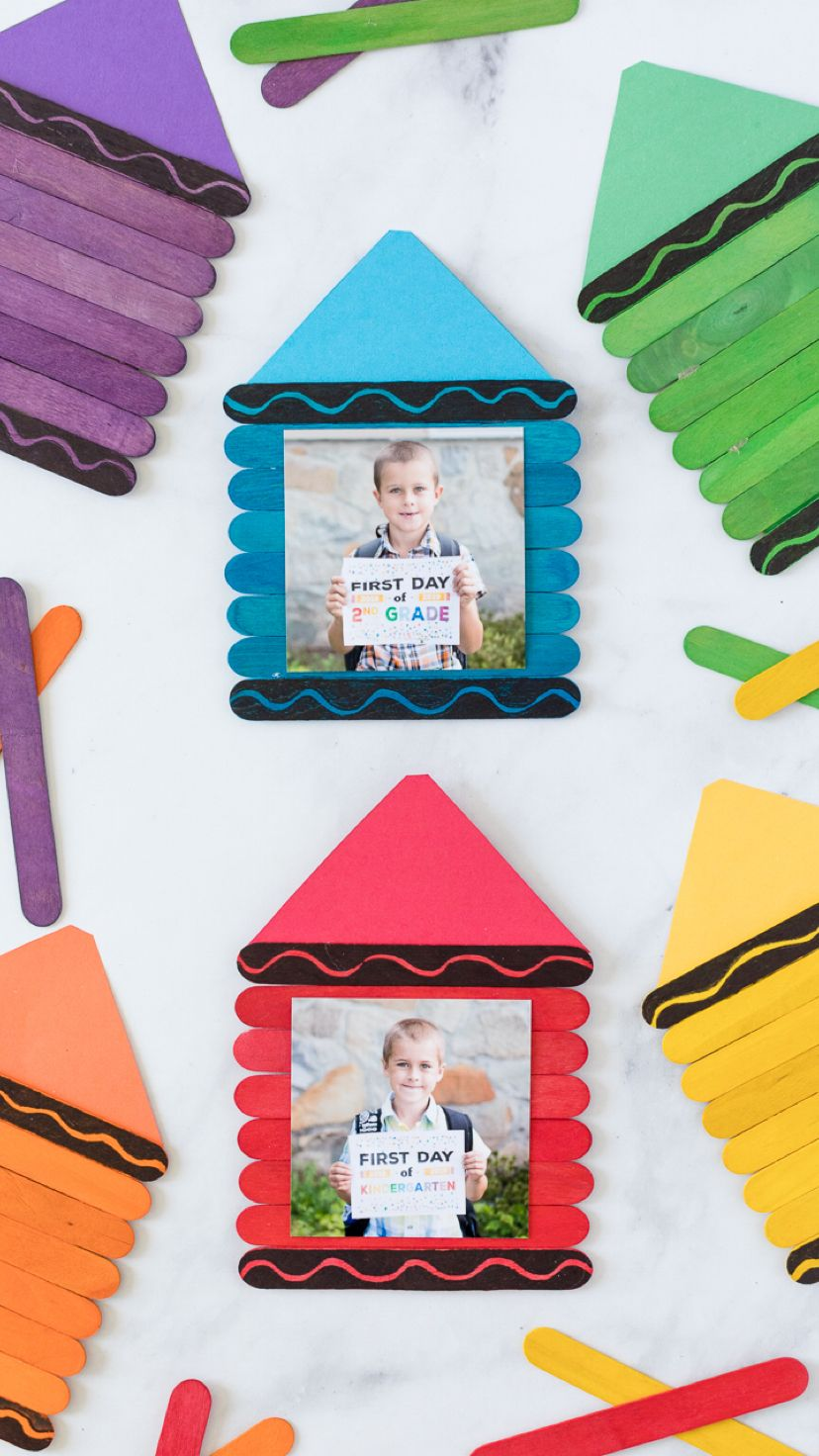 Back To School Crayon Frame